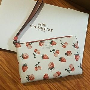 Coach Strawberry and Cherry Wristlet